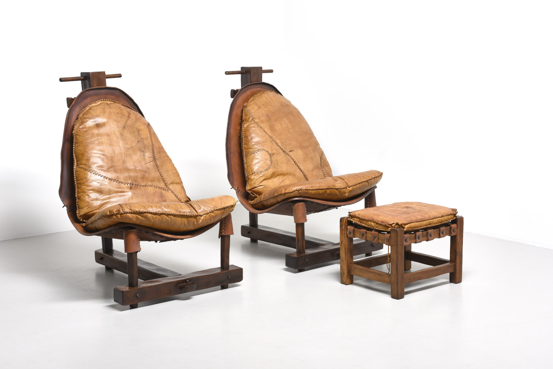 Terrific Ethnic Pair Of Lounge Chairs 1960S Archive Modest Furniture Ibusinesslaw Wood Chair Design Ideas Ibusinesslaworg