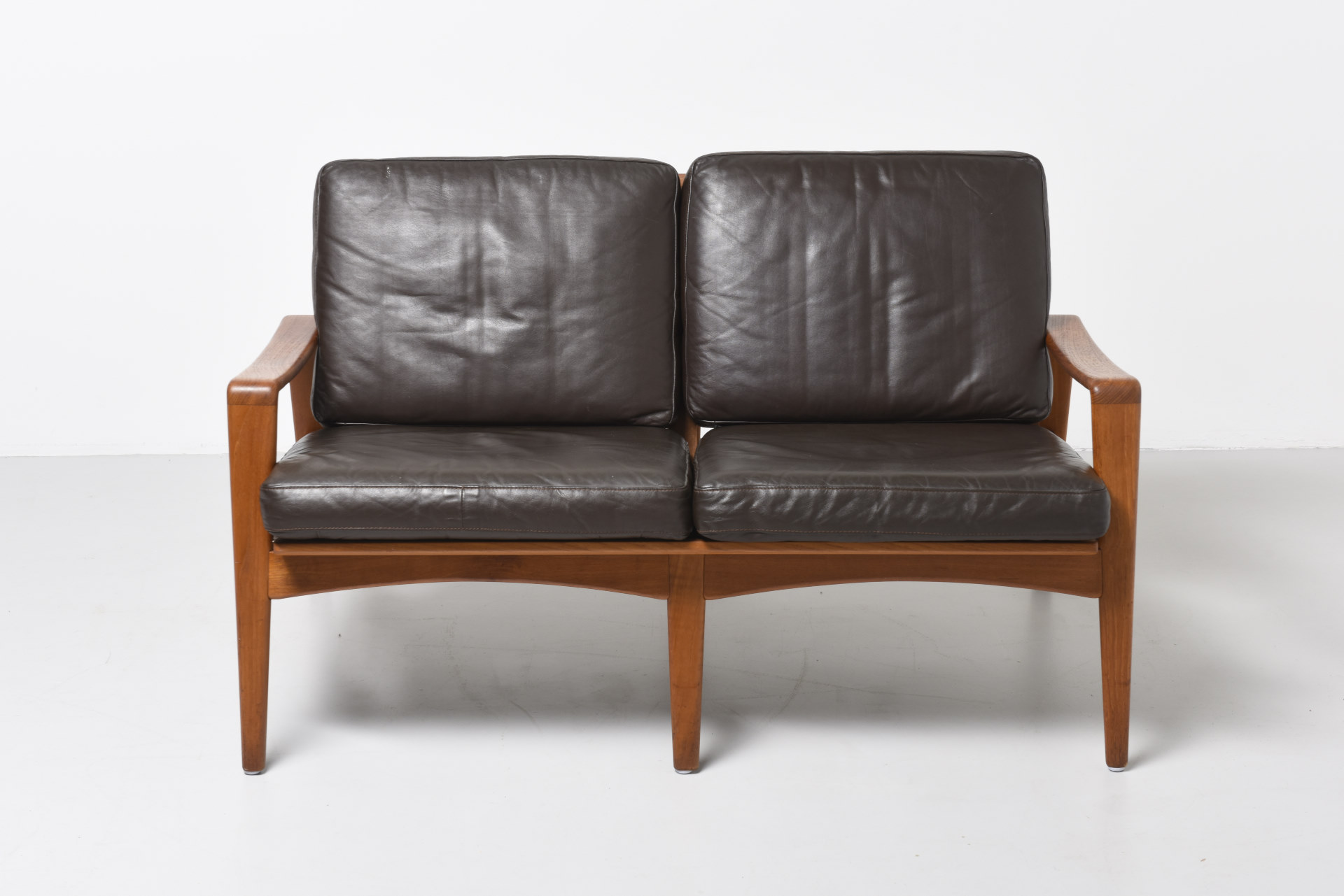 a 2 seat sofa in teak arne wahl iversen archive modest furniture