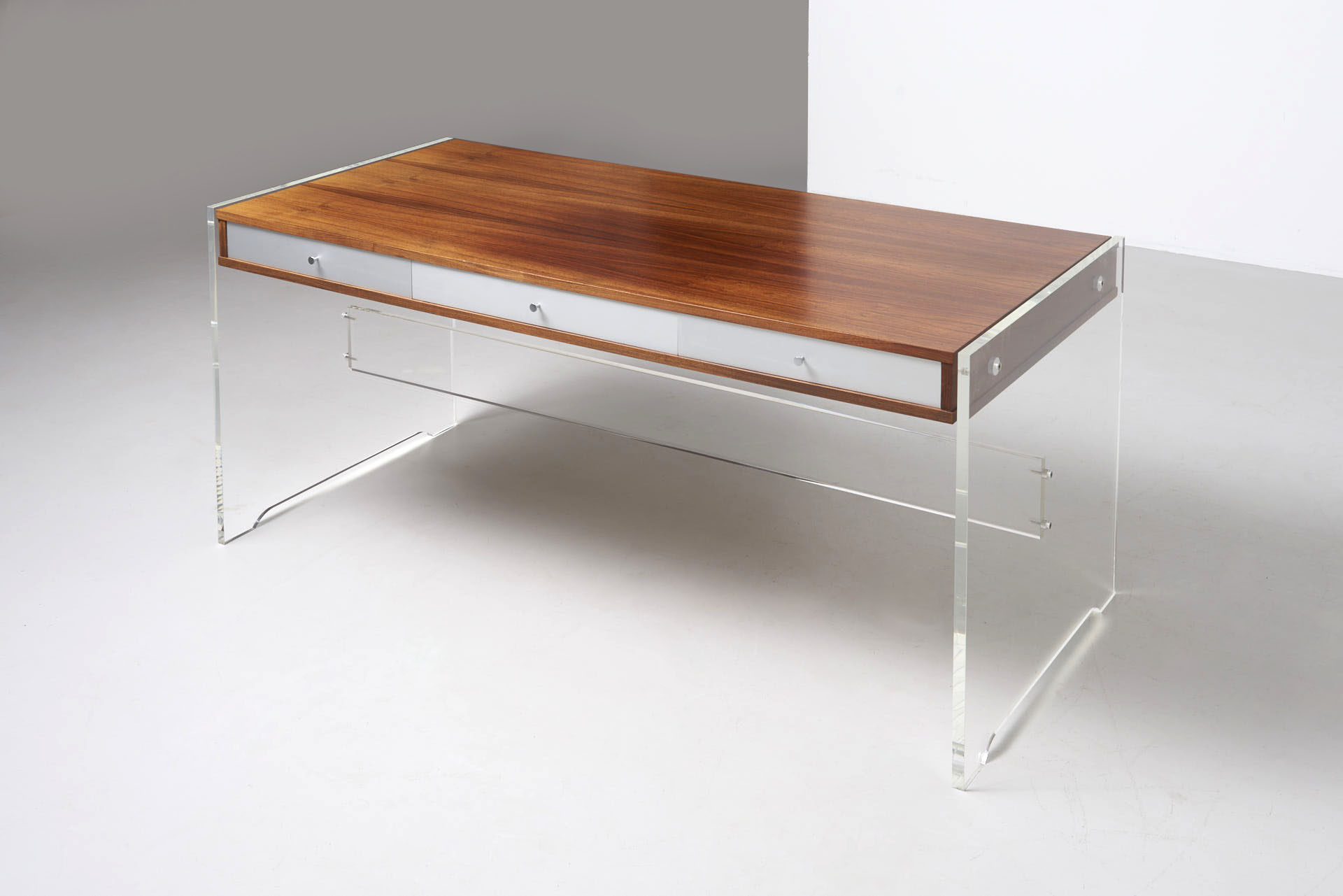 Desk In Rosewood And Plexiglass Poul N 248 Rreklit Archive