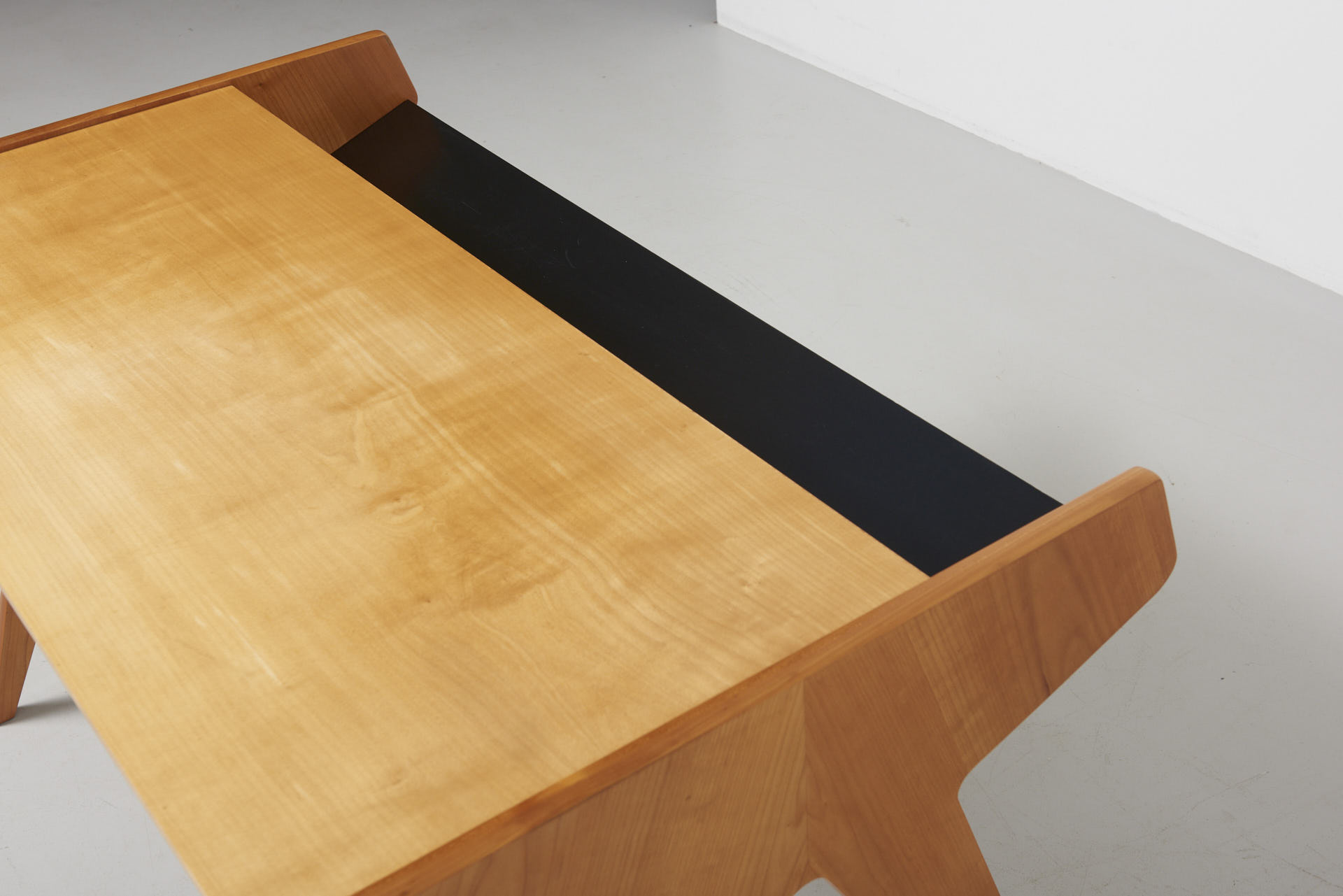 A Desk In Ash With Black Drawers Helmut Magg