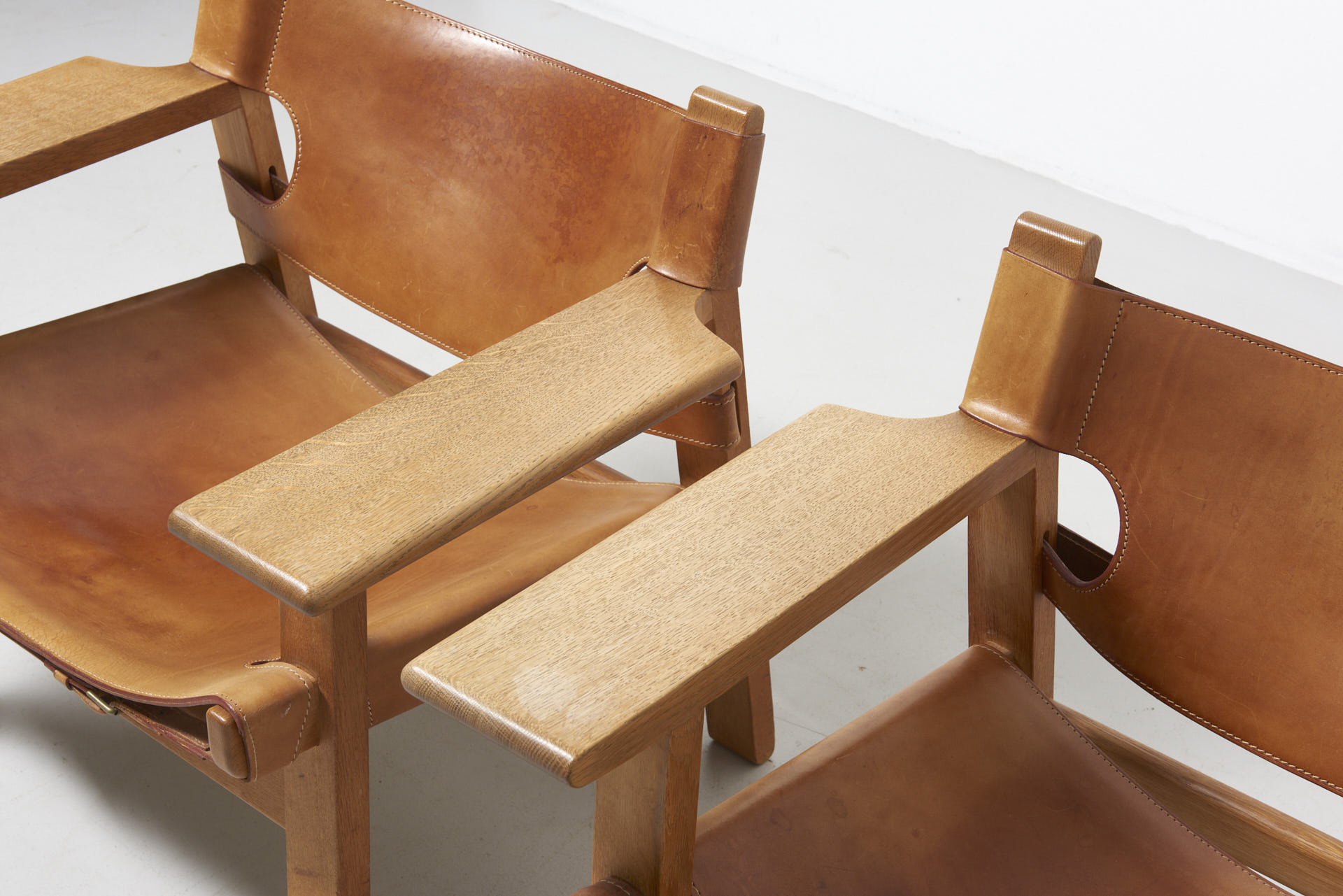 A Pair Spanish Chairs Borge Mogensen