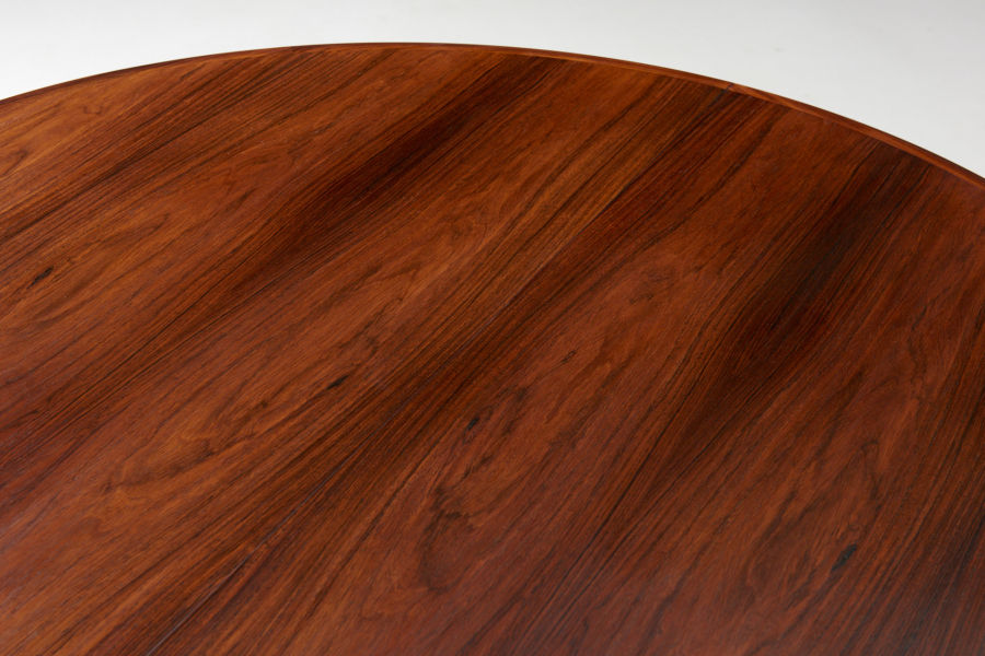 modest furniture vintage 1735 round rosewood dining table moller 06