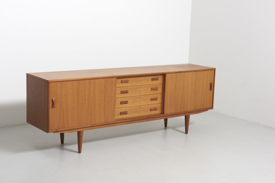 modest furniture vintage 1814 sideboard teak clausen and son 02
