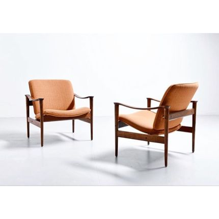 A pair easy chairs - model 711 #fredrikkayser #pamono #photography #easychair #ineriordesign #design #homedesign #homedecor #vintage