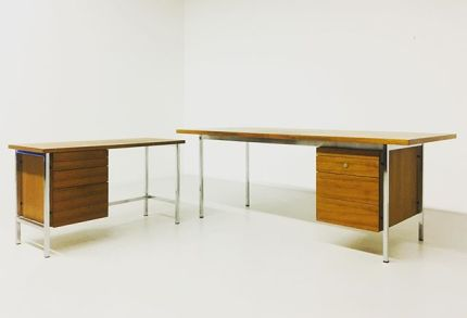 No more Monday blues at work behind this desk designed by Florence Knoll  #florenceknoll #knollinternational #midcenturydesign #americandesign #female