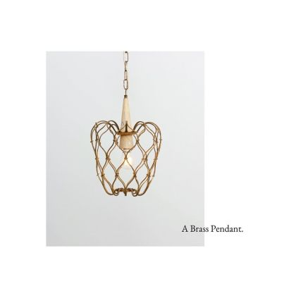 A hanging lamp with a 'cage' in brass wire frame. Made in Italy in the 1950's. Enjoy your day ☀️ #vintage #vintagestyle #vintagelighting #vintagelamp
