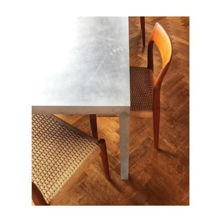 Another happy customer! Niels Møller chairs Model 77 in teak with a papercord seat. Designed in 1969. Produced by J.L.Møller in Denmark. #model77 #d
