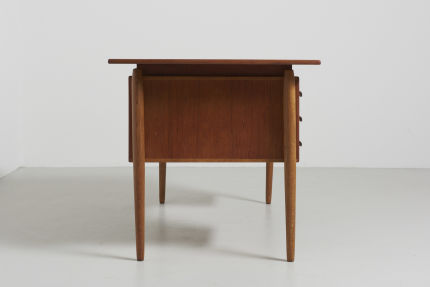 modest furniture vintage 1502 danish desk in teak with oak legs 05