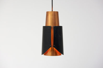 modest furniture vintage 1666 bent karlby black pendant red copper 01