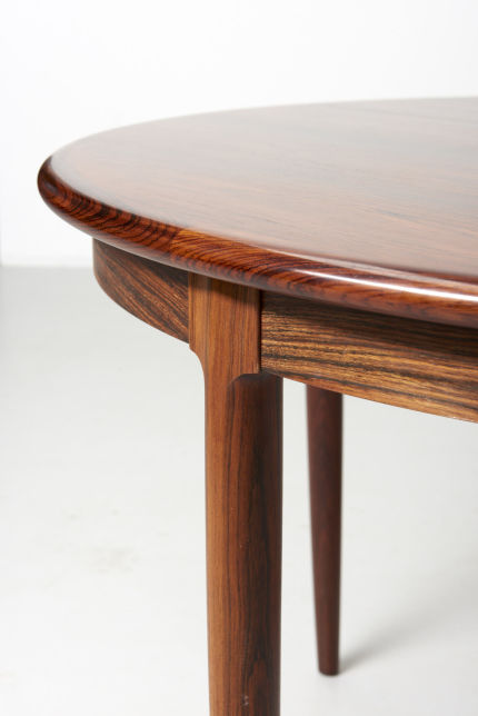 modest furniture vintage 1735 round rosewood dining table moller 04